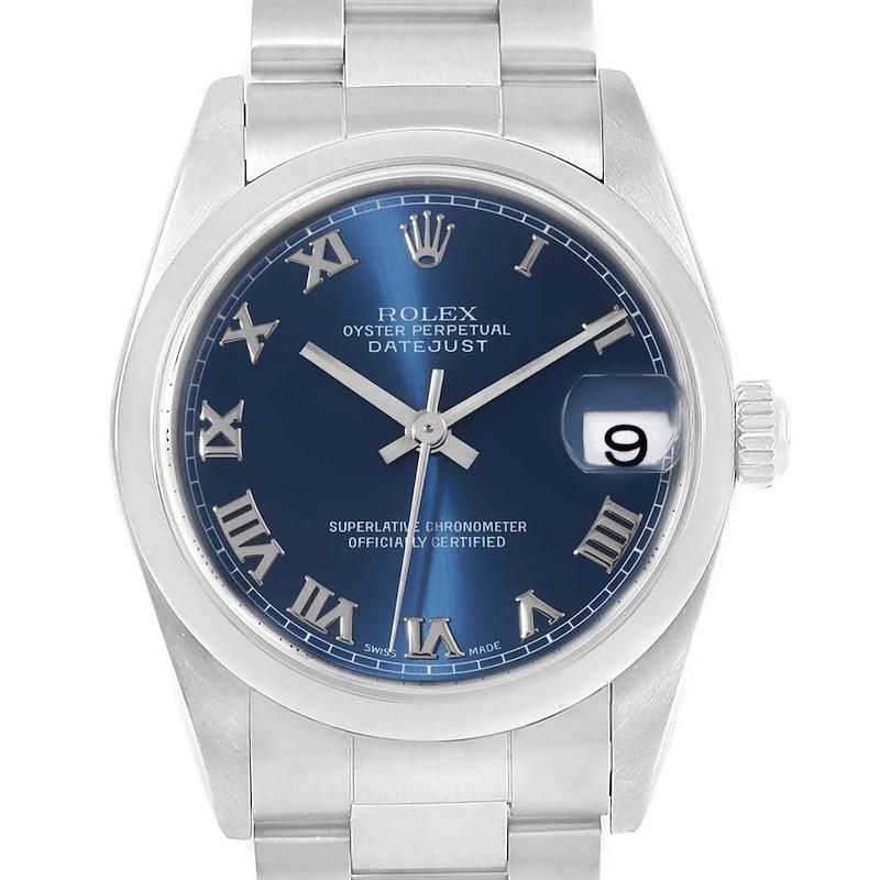 Rolex Datejust 31 Midsize Blue Roman Dial Steel Ladies Watch 78240 SwissWatchExpo