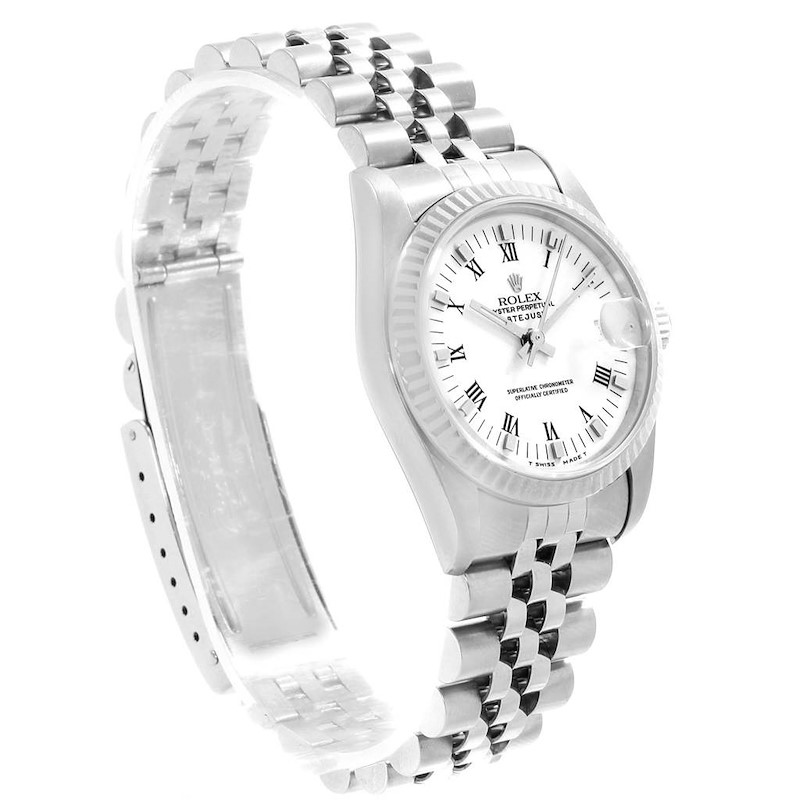 Rolex Datejust Midsize Steel 18k White Gold White Dial Watch 68274 SwissWatchExpo