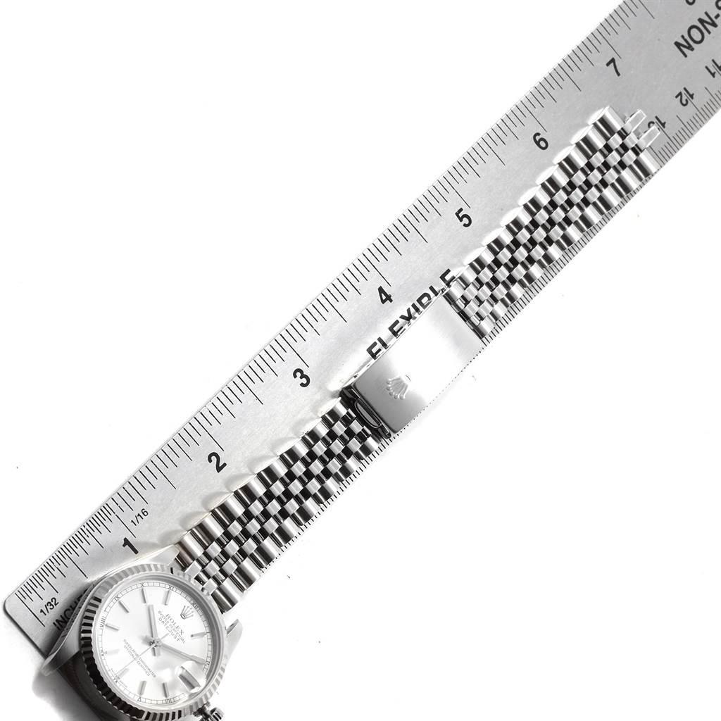 Rolex Datejust Midsize Steel White Gold Silver Dial Ladies Watch 78274 SwissWatchExpo