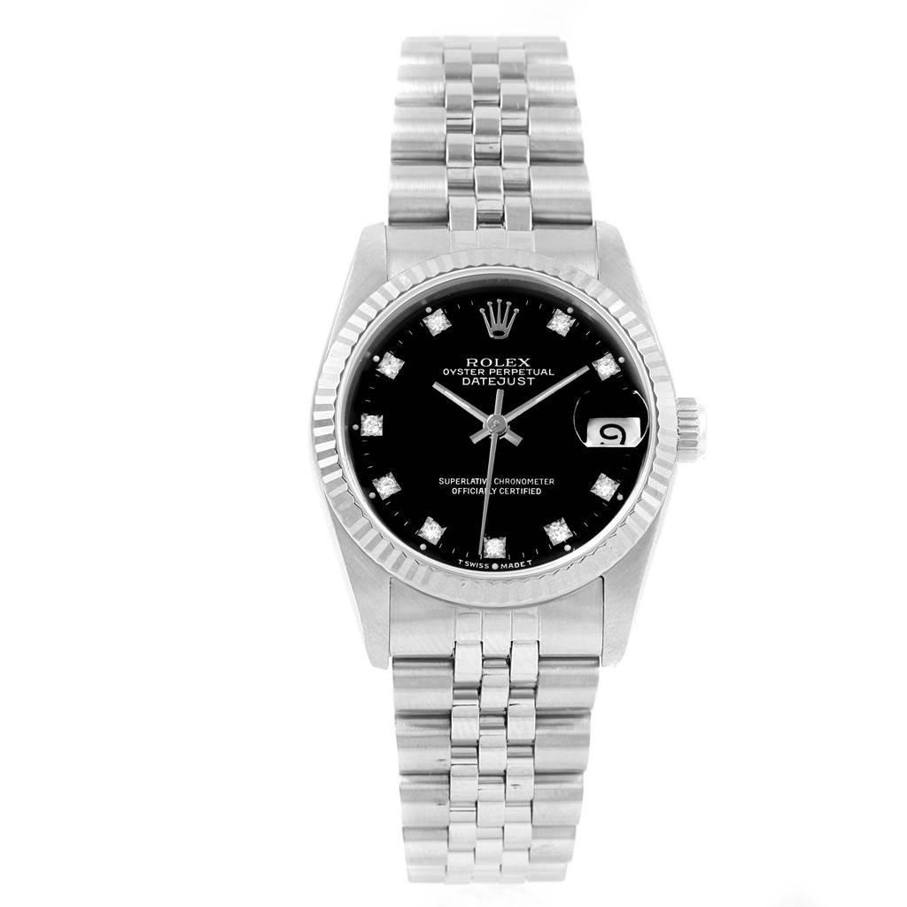 Rolex Datejust Midsize 31 Steel White Gold Diamond Ladies Watch 68274 SwissWatchExpo