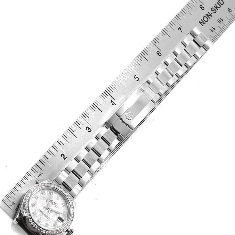 Rolex Datejust Midsize Steel White Gold Meteorite Diamond Watch 178384 SwissWatchExpo