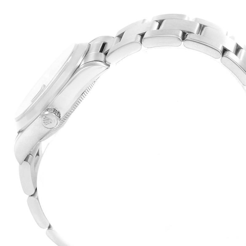 Rolex Midsize Datejust 31 Blue Dial Ladies Steel Watch 68240 SwissWatchExpo