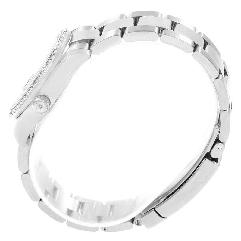 Rolex Datejust Midsize 31 Steel White Gold Diamond Ladies Watch 178384 SwissWatchExpo