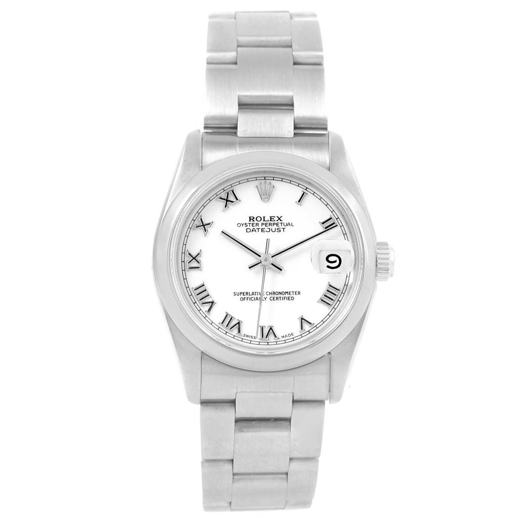 b9f366a428e ... 20325 Rolex Datejust 31 Midsize White Roman Dial Steel Ladies Watch  78240 SwissWatchExpo ...