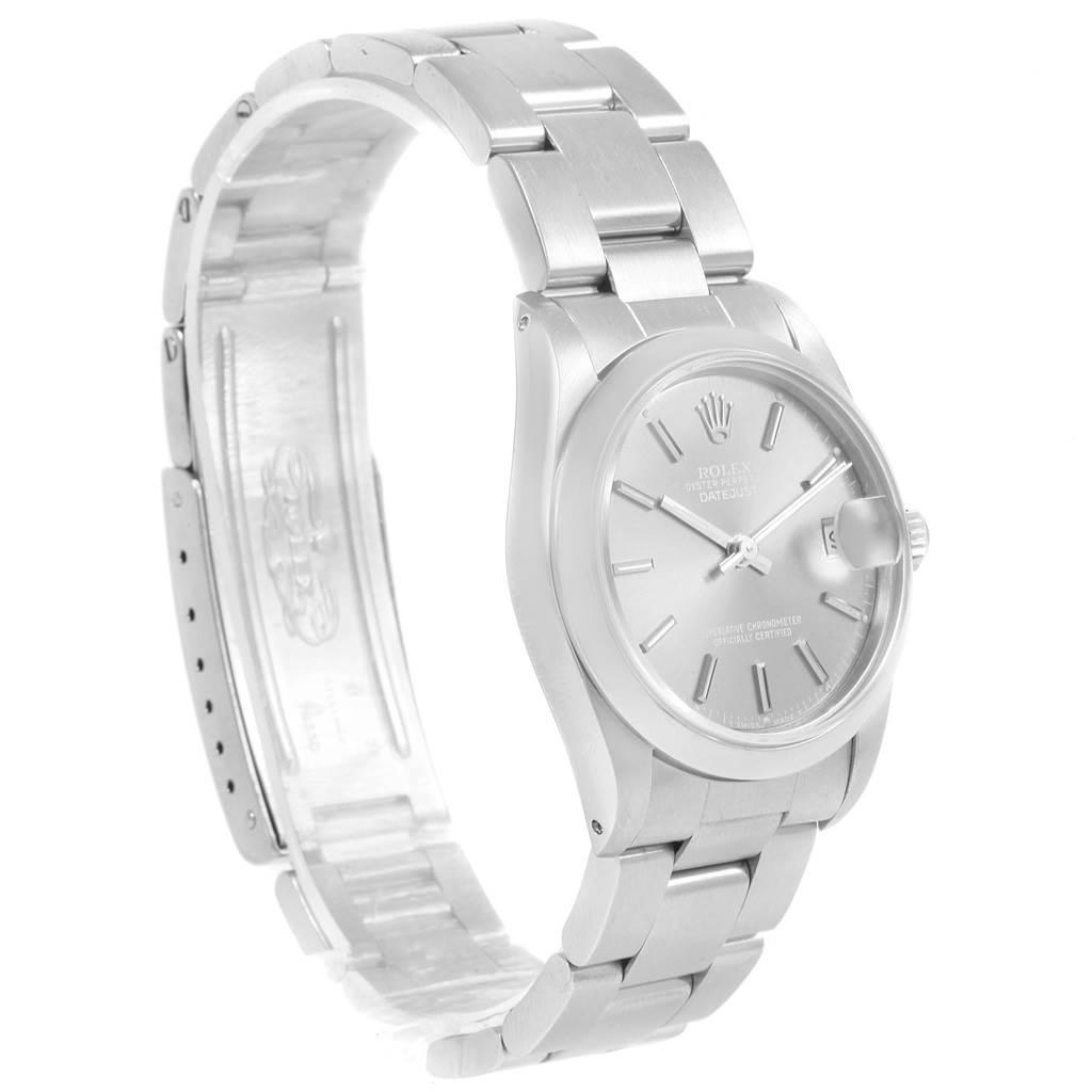 Rolex Midsize Datejust 31 Grey Dial Ladies Steel Watch 68240 SwissWatchExpo