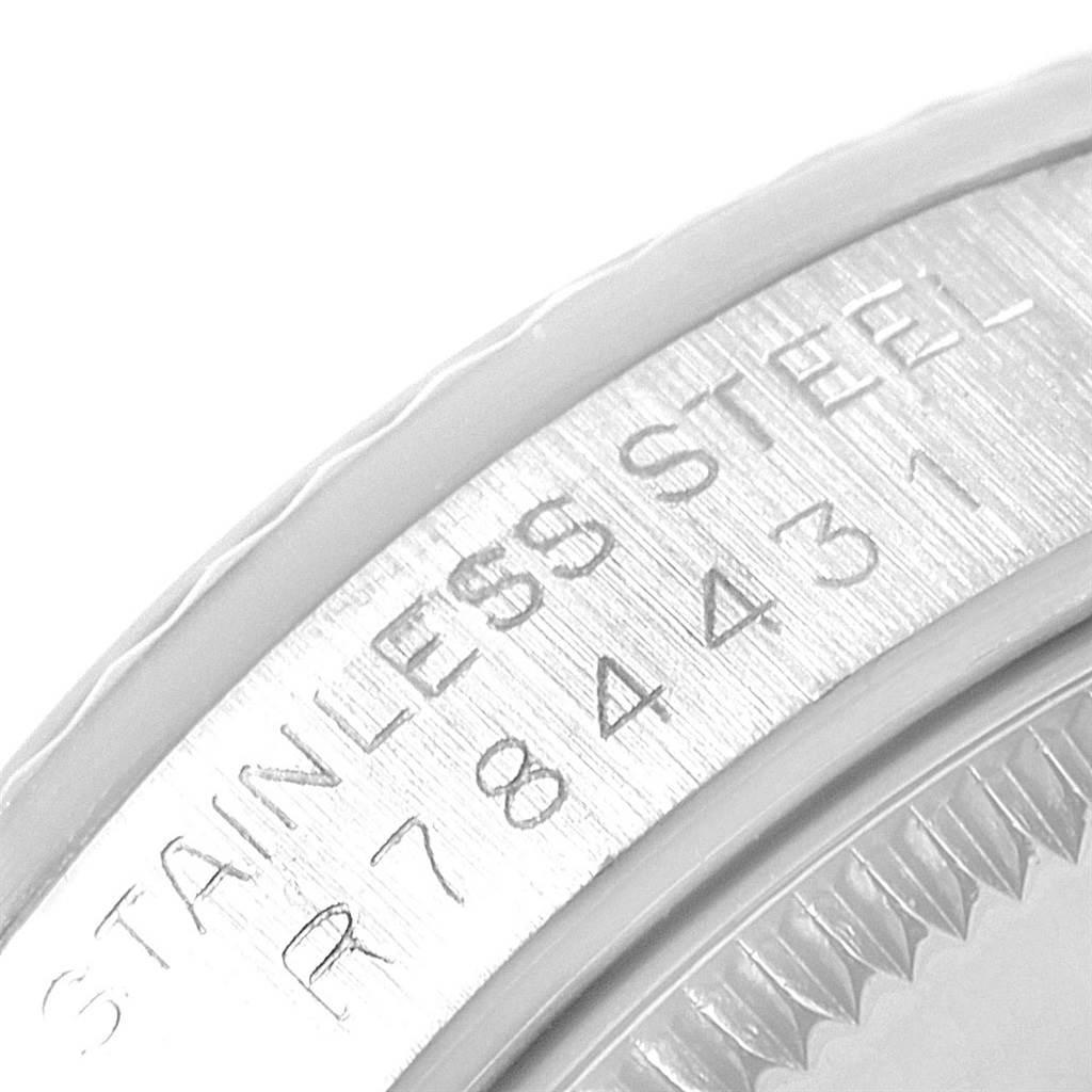 Rolex Datejust Midsize 31 Steel White Gold Vignette Diamond Watch 68274 SwissWatchExpo