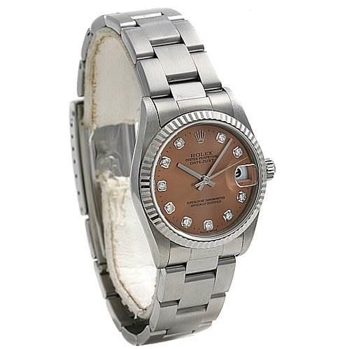 Rolex Oyster Perpetual Midsize Ss 18k Wg Diamond 78274 SwissWatchExpo