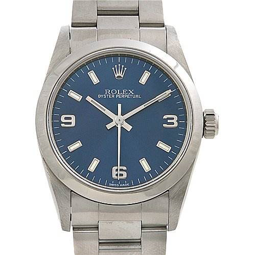 Rolex Ss Oyster Perpetual Midsize 77080 Beauty SwissWatchExpo
