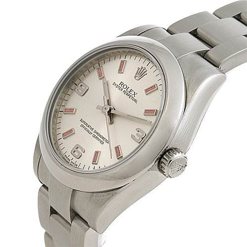 Rolex Oyster Perpetual  Midsize Ss Watch 177200 Year 2009 SwissWatchExpo