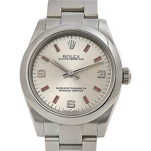 2467 Rolex Oyster Perpetual  Midsize Ss Watch 177200 Year 2009  SwissWatchExpo