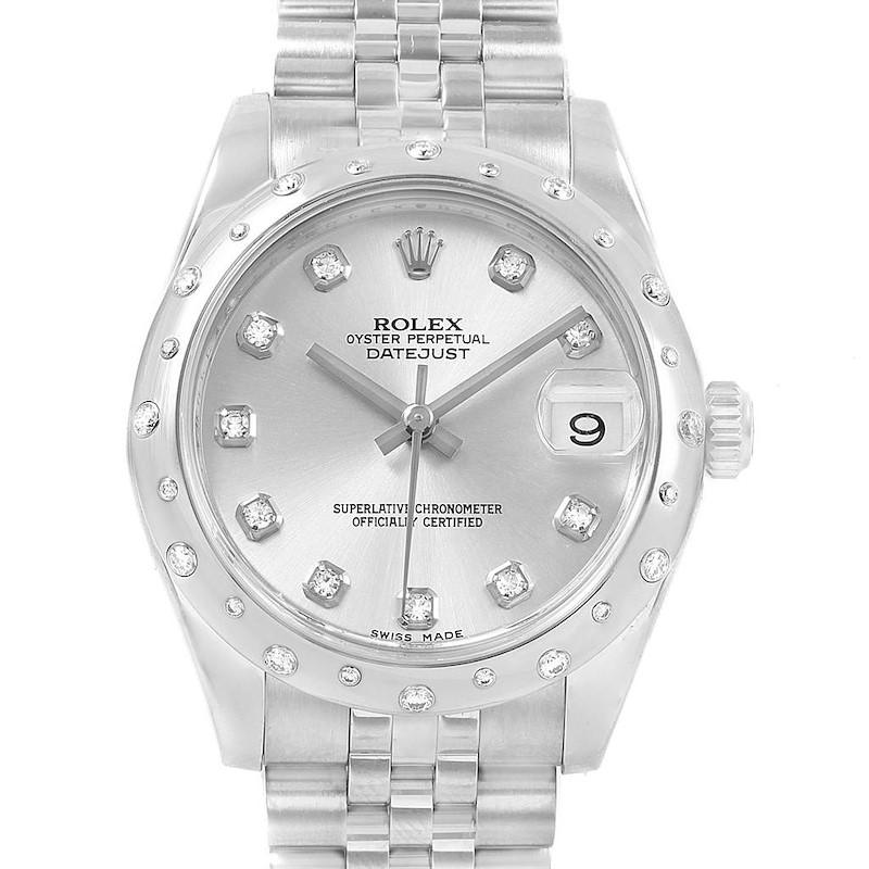 Rolex Datejust Midsize 31 Steel Diamond Ladies Watch 178344 Box Card SwissWatchExpo