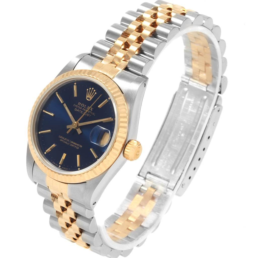 21112 Rolex Datejust Midsize 31 Steel Yellow Gold Ladies Watch 68273 Box SwissWatchExpo