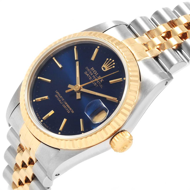 Rolex Datejust Midsize 31 Steel Yellow Gold Ladies Watch 68273 Box SwissWatchExpo