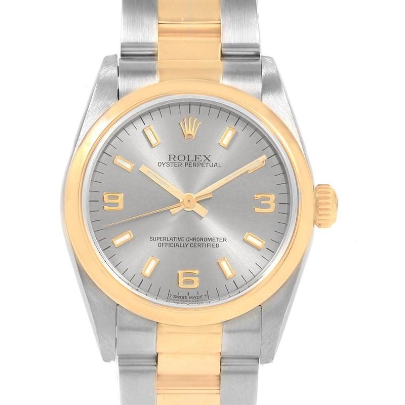 Rolex Midsize 31 Slate Dial Yellow Gold Steel Ladies Watch 77483 SwissWatchExpo