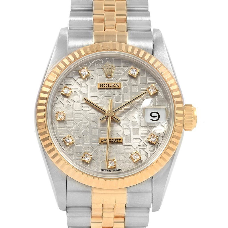 Rolex Datejust 31 Midsize Steel Yellow Gold Diamond Ladies Watch 68273 SwissWatchExpo