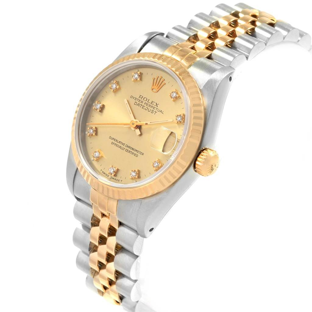 21101 Rolex Datejust Midsize 31 Steel Yellow Gold Ladies Watch 68273 Box SwissWatchExpo