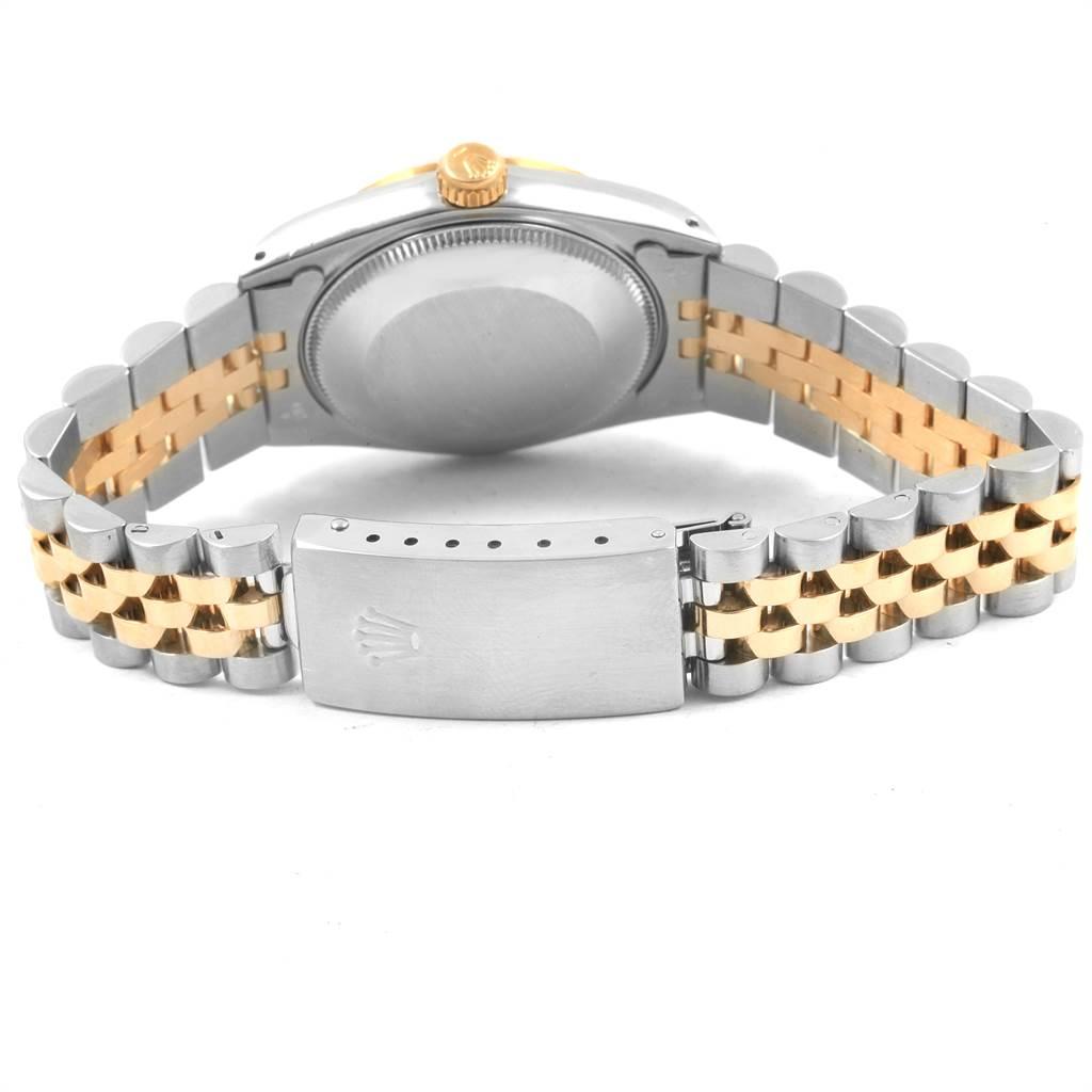 21241 Rolex Datejust Midsize 31 Steel Yellow Gold Diamond Ladies Watch 68273 SwissWatchExpo