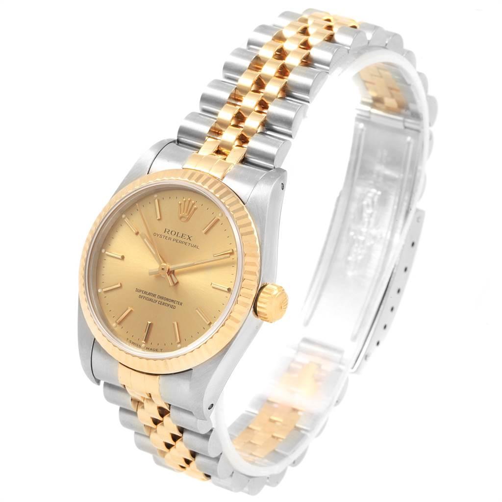 Rolex Midsize 31 Yellow Gold Steel Ladies Watch 67513 Box Papers SwissWatchExpo