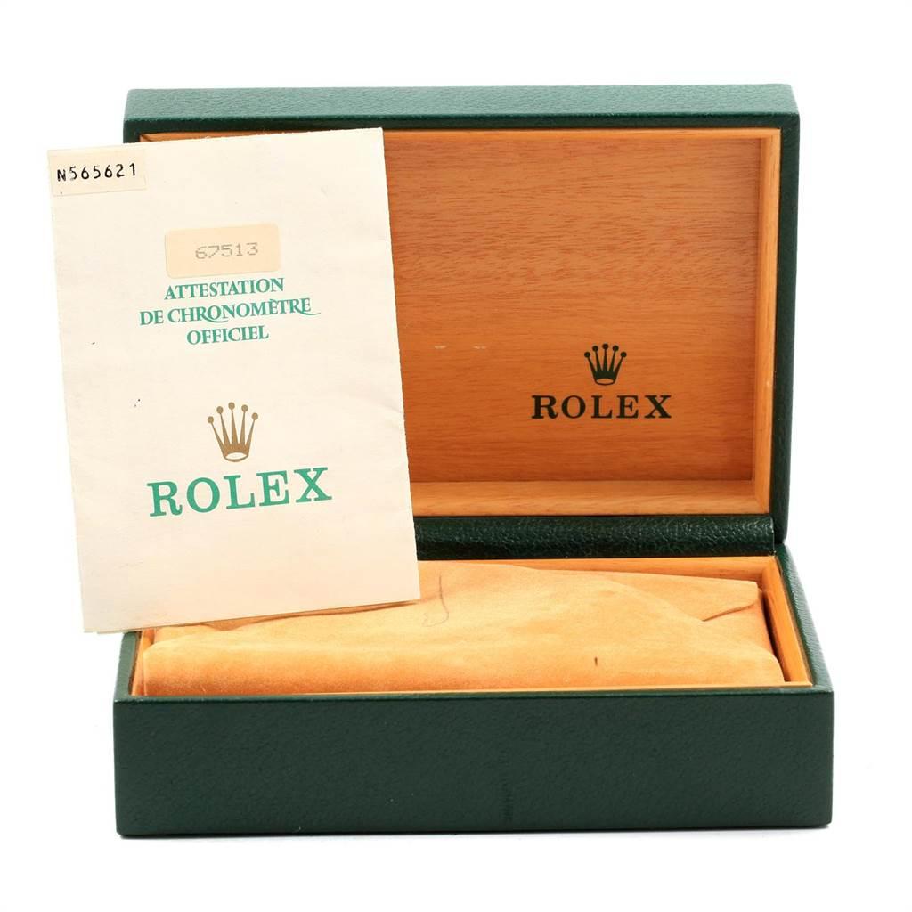 21663 Rolex Midsize 31 Yellow Gold Steel Ladies Watch 67513 Box Papers SwissWatchExpo