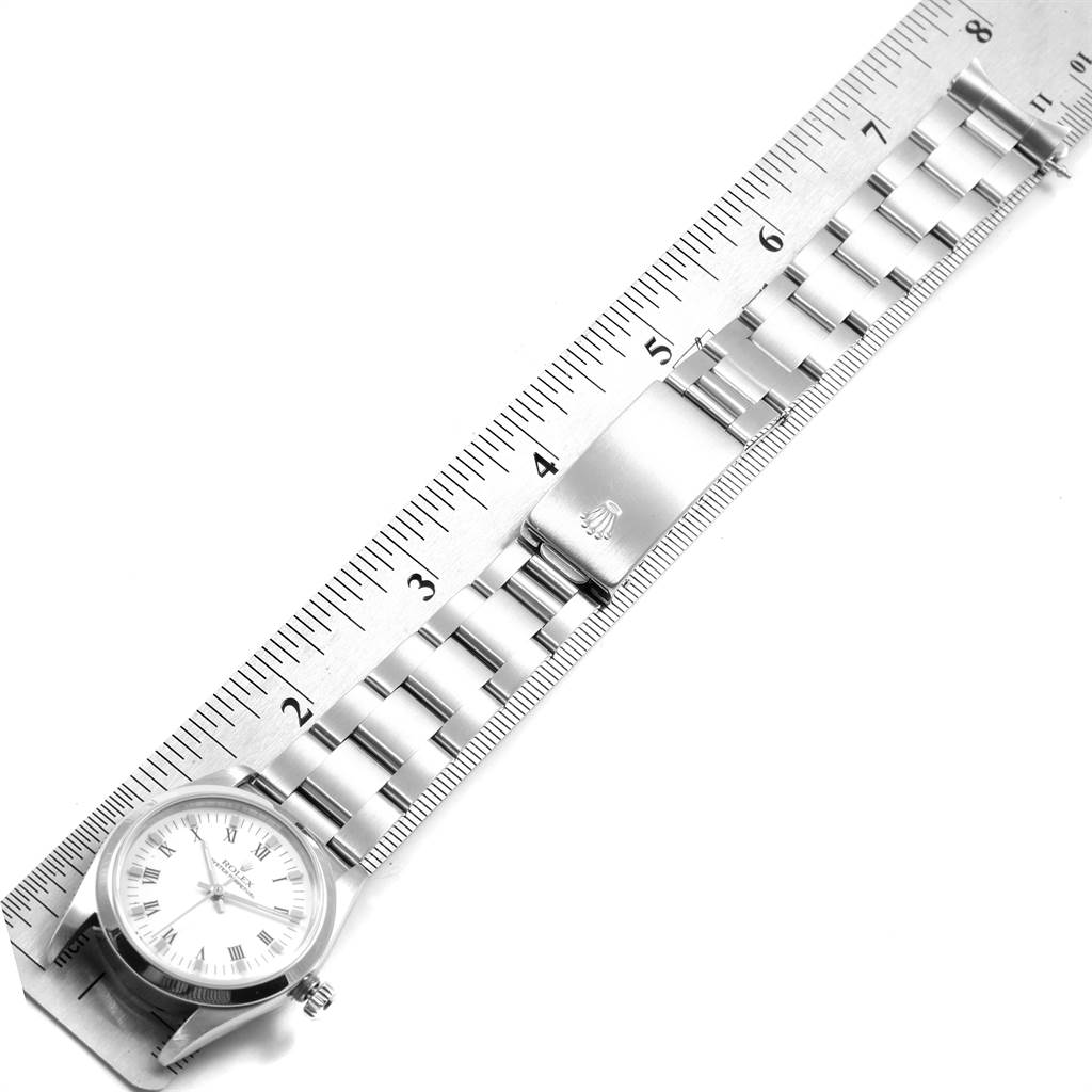 21661 Rolex Midsize 31mm White Dial Automatic Steel Ladies Watch 67480 SwissWatchExpo