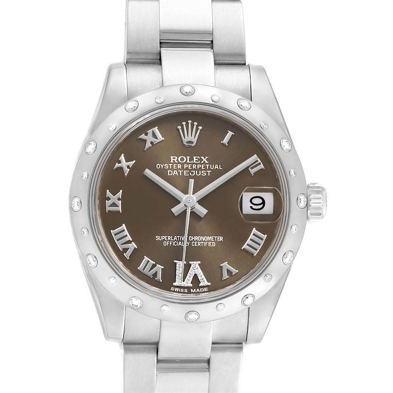 Rolex Datejust 31 Midsize Diamond Steel Ladies Watch 178344 Box Card SwissWatchExpo