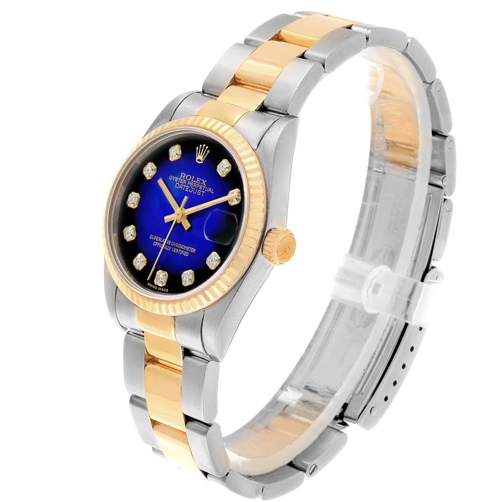 21015 Rolex Datejust Midsize 31 Steel Yellow Gold Vignette Diamond Watch 68273 SwissWatchExpo