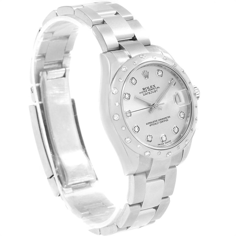 Rolex Datejust Midsize 31 Steel Diamond Ladies Watch 178344 Box Card SwissWatchExpo