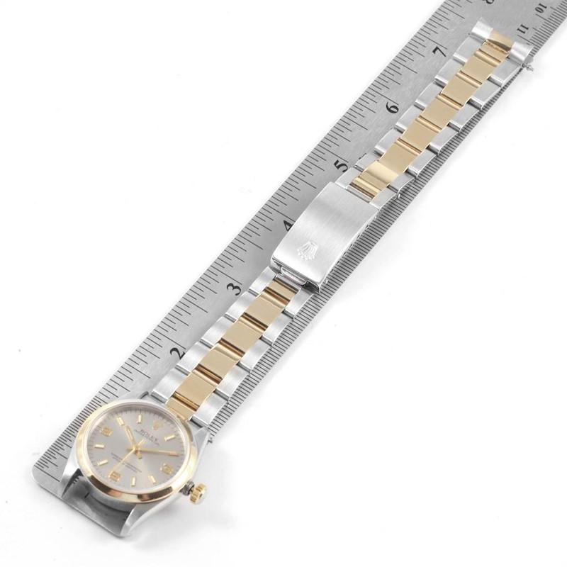 Rolex Midsize 31 Slate Dial Yellow Gold Steel Ladies Watch 67483 SwissWatchExpo