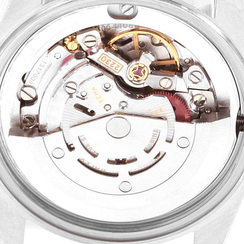 Rolex Midsize Steel White Gold Silver Dial Ladies Watch 77014 SwissWatchExpo