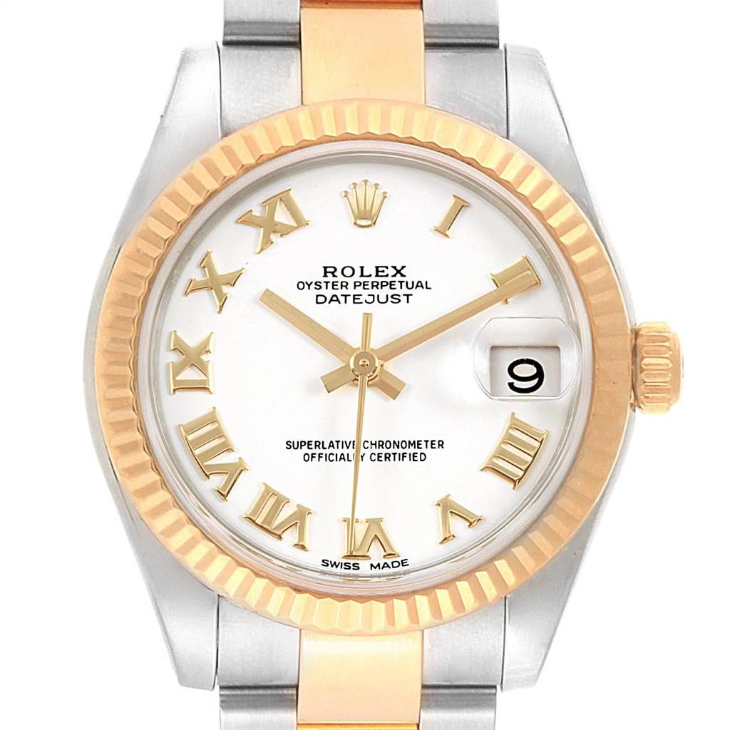 22454 Rolex Datejust Midsize 31 Steel Yellow Gold Ladies Watch 178273 Box Card SwissWatchExpo