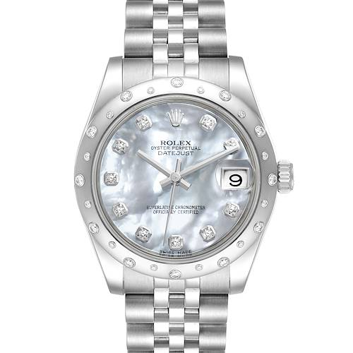 Photo of Rolex Datejust Midsize 31 Steel MOP Diamond Ladies Watch 178344