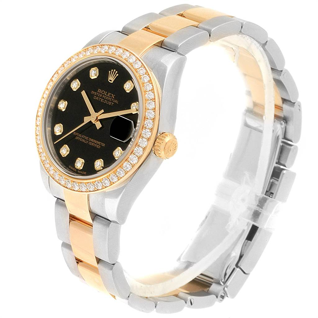 22464 Rolex Datejust 31 Midsize Steel Yellow Gold Diamond Ladies Watch 178383 SwissWatchExpo