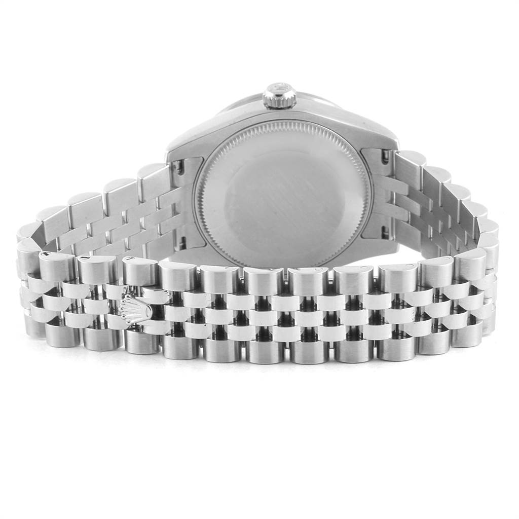 Rolex Datejust Midsize Steel White Gold MOP Diamond Ladies Watch 178384 SwissWatchExpo