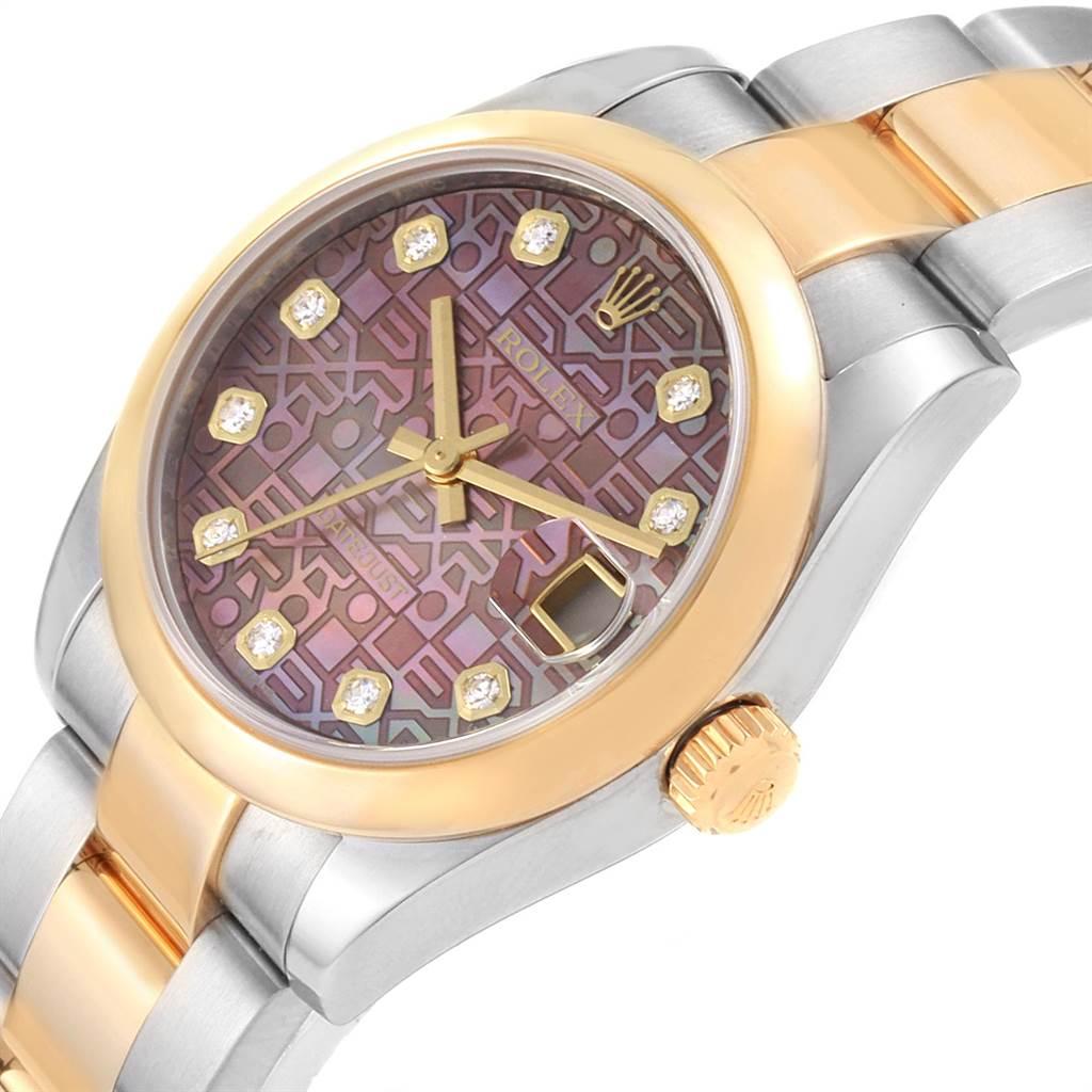 Rolex Datejust Midsize Steel Yellow Gold MOP Diamond Ladies Watch 178243 SwissWatchExpo