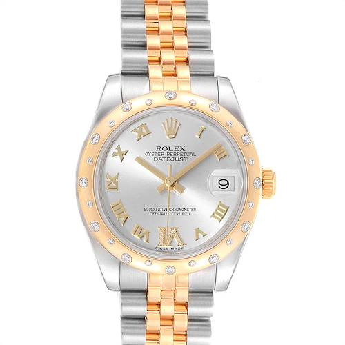 Photo of Rolex Datejust 31 Midsize Steel 18K Yellow Gold Diamond Watch 178343