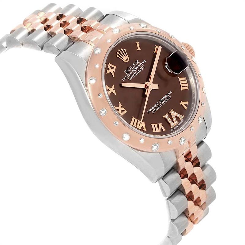 Rolex Datejust 31 Midsize Steel Everose Gold Diamond Ladies Watch 178341 SwissWatchExpo