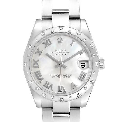Photo of Rolex Datejust 31 Midsize Steel MOP Diamond Ladies Watch 178344