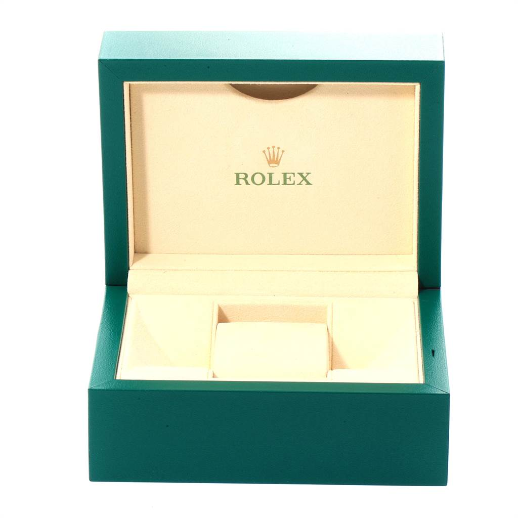 Rolex Oyster Perpetual Midsize 31 Blue Dial Steel Ladies Watch 177234 SwissWatchExpo