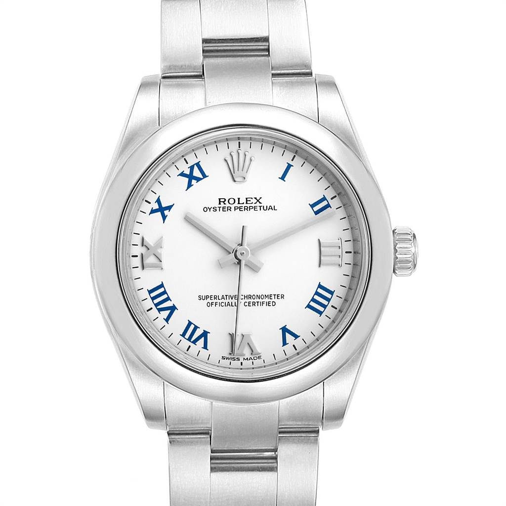 23227 Rolex Oyster Perpetual Midsize 31 White Dial Ladies Watch 177200 SwissWatchExpo