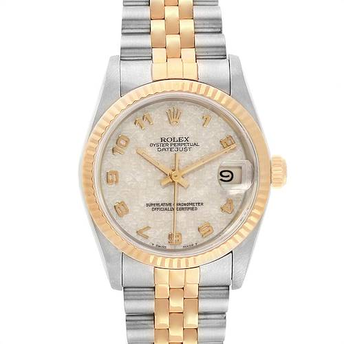 Photo of Rolex Datejust Midsize 31mm Steel Yellow Gold Dial Ladies Watch 68273
