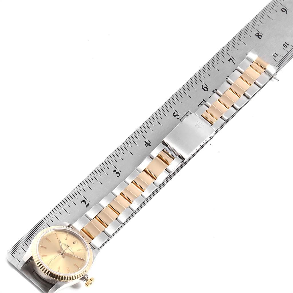 22121 Rolex Midsize 31 Yellow Gold Steel Fluted Bezel Ladies Watch 67513 SwissWatchExpo