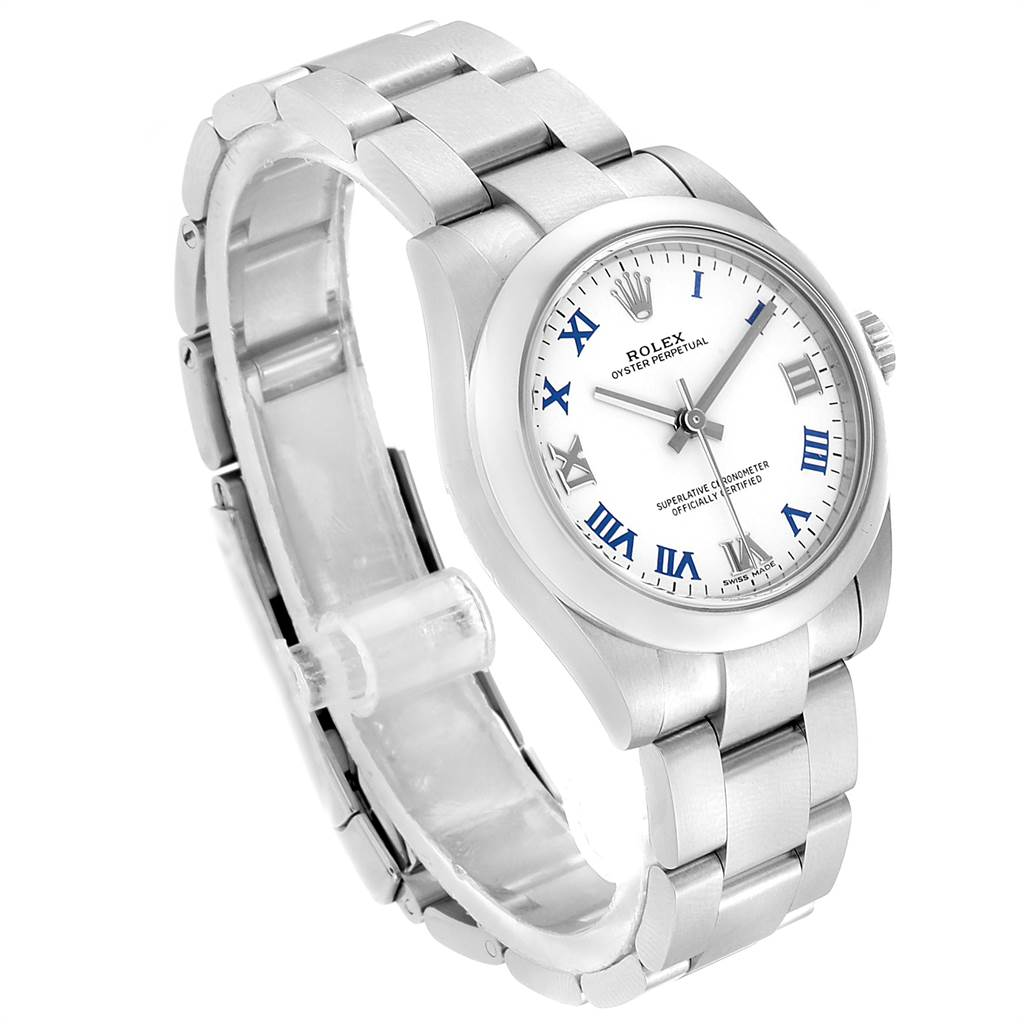 23226 Rolex Oyster Perpetual Midsize 31 Smooth Bezel Ladies Watch 177200 SwissWatchExpo