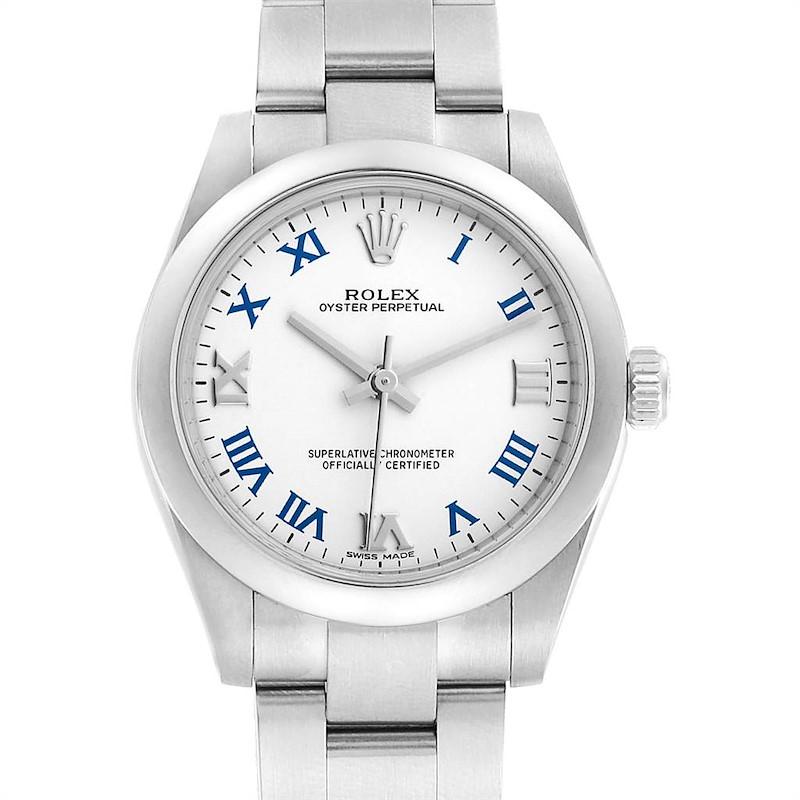 Rolex Oyster Perpetual Midsize 31 Smooth Bezel Ladies Watch 177200 SwissWatchExpo