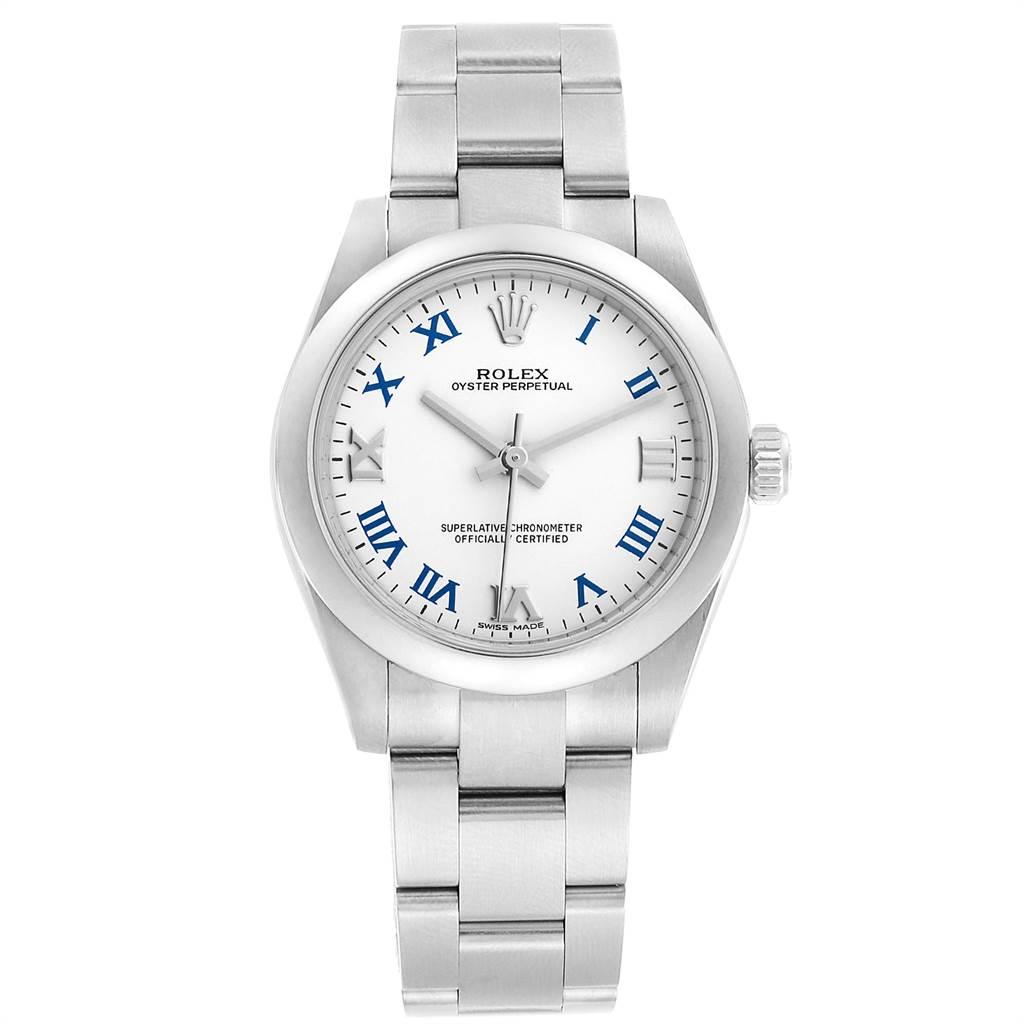 23226 Rolex Oyster Perpetual Midsize 31 Smooth Bezel Ladies Watch 177200 SwissWatchExpo