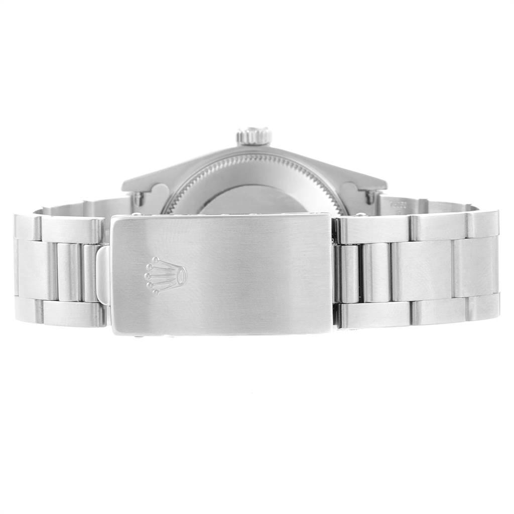 22964 Rolex Midsize 31 Black Baton Dial Steel Ladies Watch 77080 SwissWatchExpo