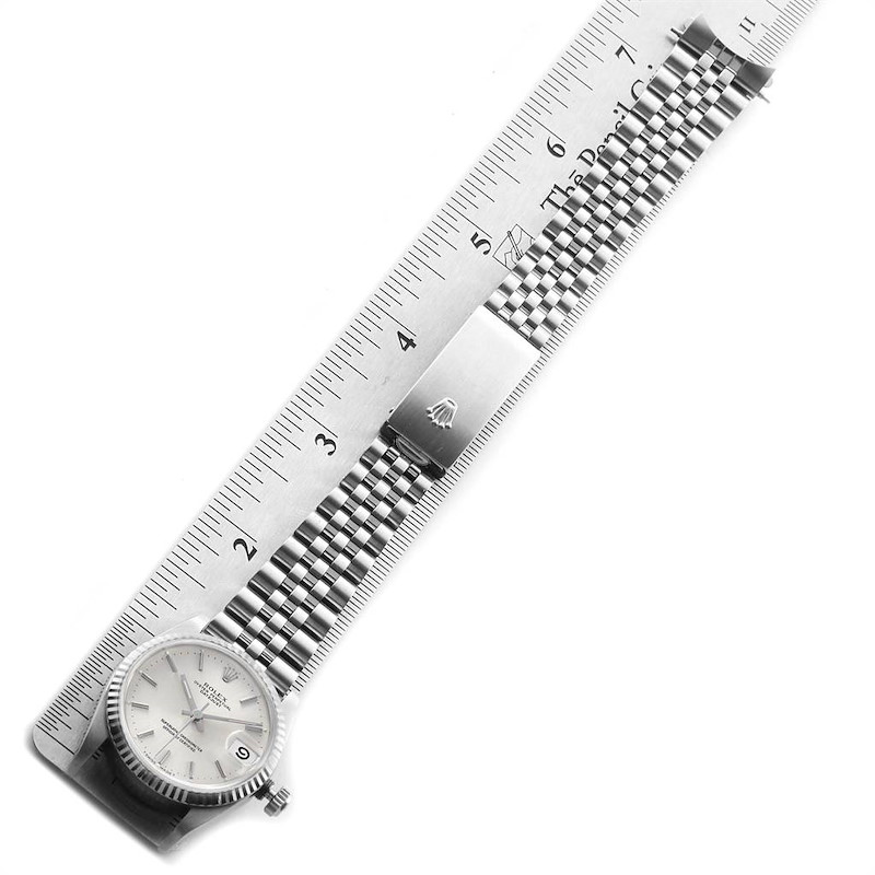 Rolex Datejust Midsize 31 Steel White Gold Silver Dial Ladies Watch 68274 SwissWatchExpo