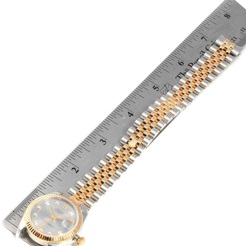 Rolex Datejust Midsize 31 Steel Yellow Gold Diamond Ladies Watch 178273 SwissWatchExpo