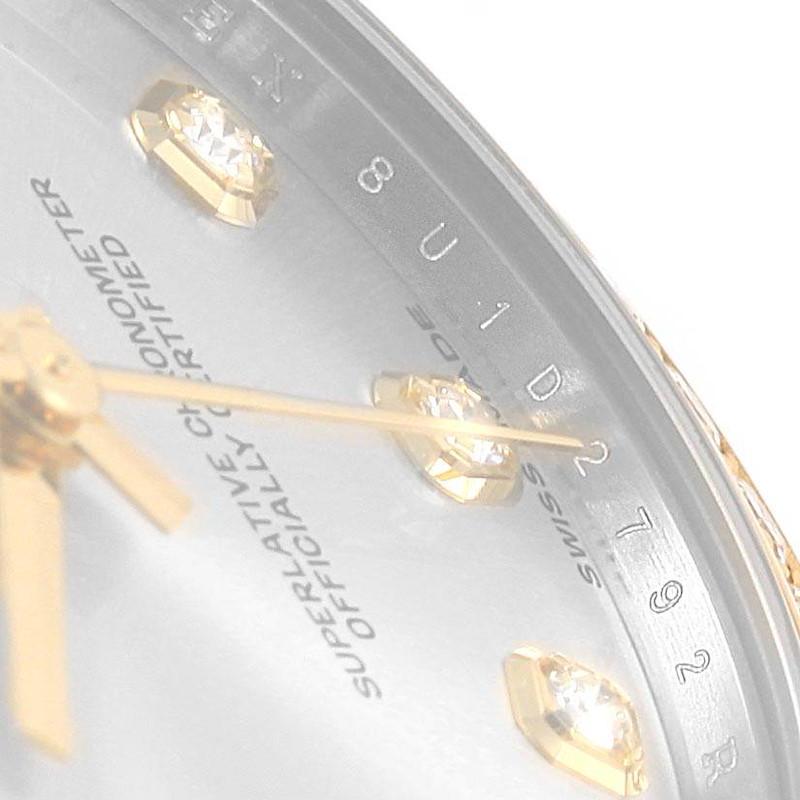 Rolex Datejust 31 Midsize Steel Yellow Gold MOP Diamond Ladies Watch 178383 SwissWatchExpo