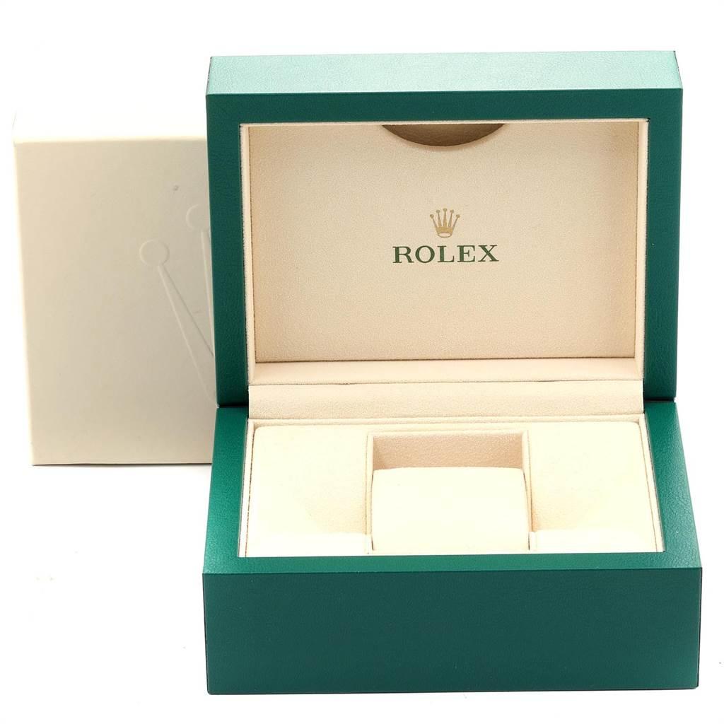 Rolex Midsize 31 White Dial Domed Bezel Steel Ladies Watch 177200 SwissWatchExpo