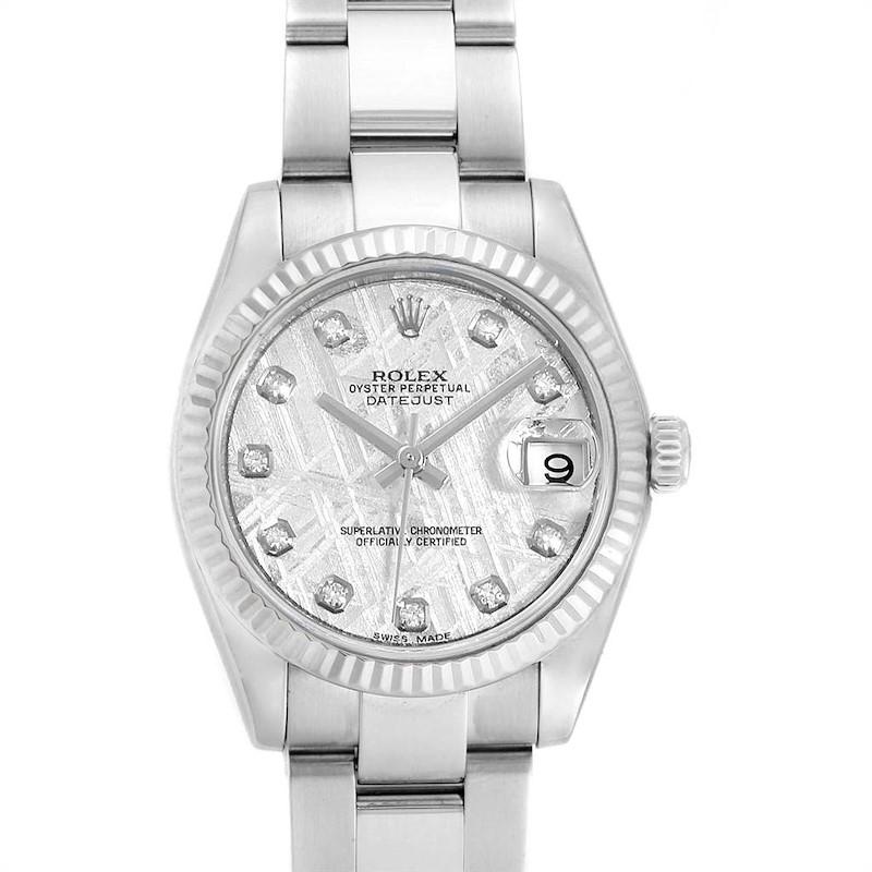 Rolex Datejust Midsize Steel White Gold Meteorite Diamond Watch 178274 SwissWatchExpo